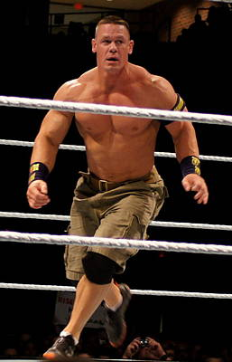 John Cena In Action Art Print by Paul  Wilford