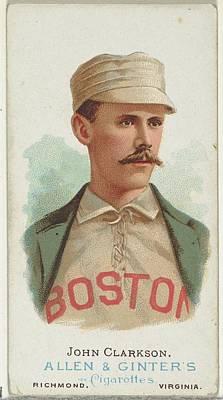 Baseball Cards Drawing - John Clarkson, Baseball Player by Allen & Ginter