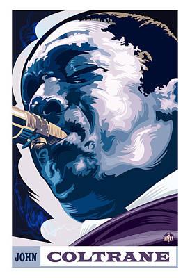 Jazz Royalty Free Images - John Coltrane Portrait Royalty-Free Image by Garth Glazier