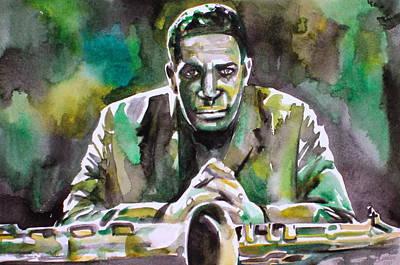 John Coltrane Painting - John Coltrane - Watercolor Portrait by Fabrizio Cassetta