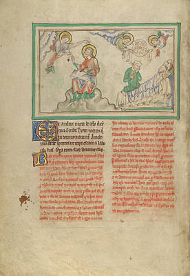 Wash Drawing - John Commanded To Write And The Blessed Dead Unknown London by Litz Collection