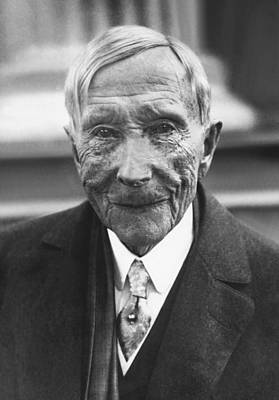 Gray Hair Photograph - John D. Rockefeller At 88 by Underwood Archives