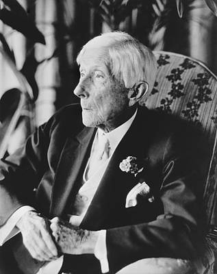 Gray Hair Photograph - John D. Rockefeller At 96 by Underwood Archives