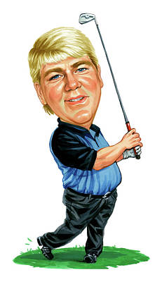 Caricature Painting - John Daly by Art