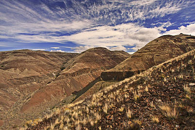 River Photograph - John Day River Canyon Lands by Gary Wing