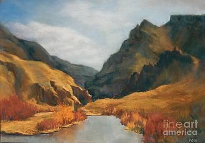 Pastel - John Day River Canyon by Marlene Kingman