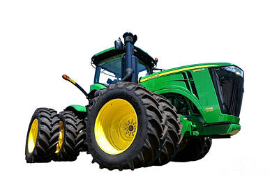 Farm Equipment Photograph - John Deere 9460r by Olivier Le Queinec