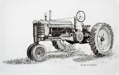 John Deere Awaiting Restoration Art Print