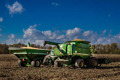 Photograph - John Deere Combine 9770 by Ron Pate