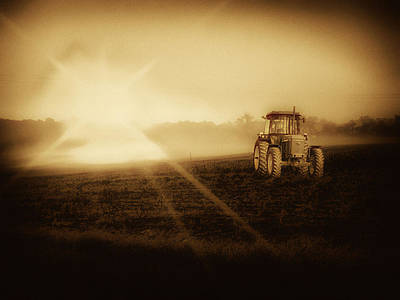 Photograph - John Deere Glow by Kelly Reber