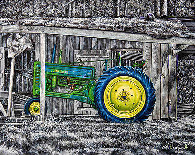 Painting - John Deere Green by Craig T Burgwardt