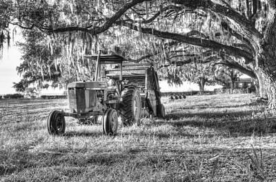 Photograph - John Deere - Hay Bailing by Scott Hansen