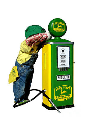 Pump Photograph - John Deere Kid by Olivier Le Queinec