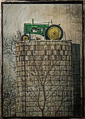 Country Scene Photograph - John Deere Parking Only by Paul Freidlund