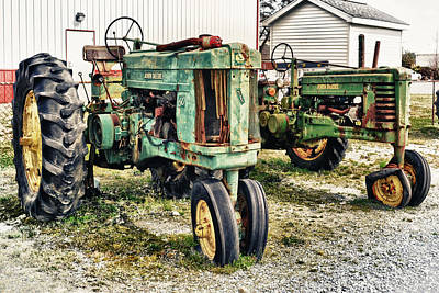 Photograph - John Deere Past by Kelly Reber