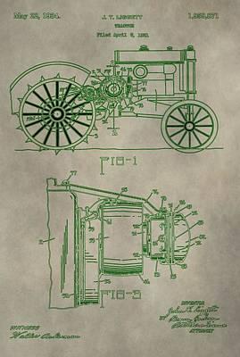 Digital Art - John Deere Patent by Dan Sproul