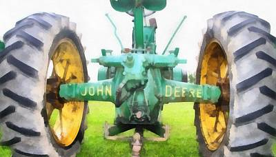 Painting - John Deere Tractor by Dan Sproul