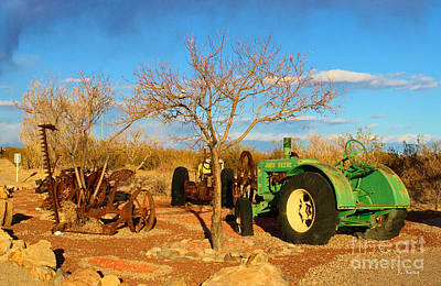 Photograph - John Deere Tractor Garden by Roena King
