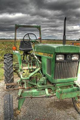 Antique Tractors Photograph - John Deere Tractor by Jane Linders
