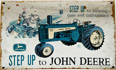 Photograph - John Deere Tractor Sign by Paul Mashburn