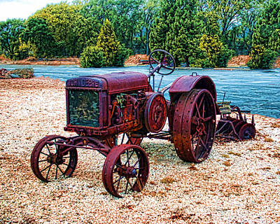 Photograph - John Deere Tractor by William Havle