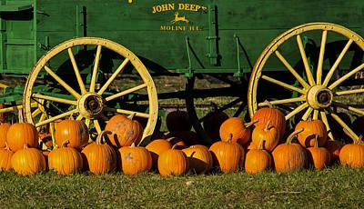 Photograph - John Deere Wagon by Deb Buchanan