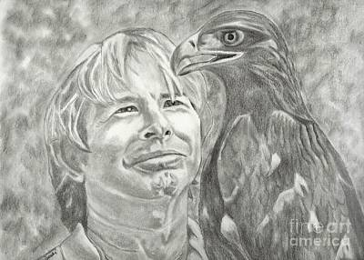 John Denver Drawing - John Denver And Friend by Carol Wisniewski