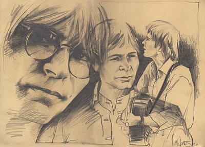 John Denver Photograph - John Denver Drawing by John Brandon