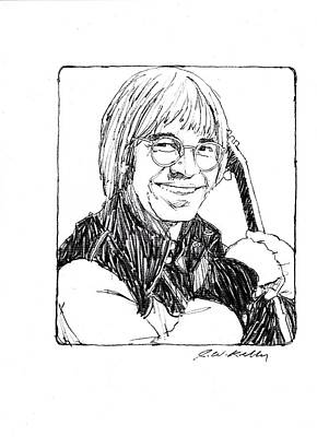 John Denver Art Print by J W Kelly