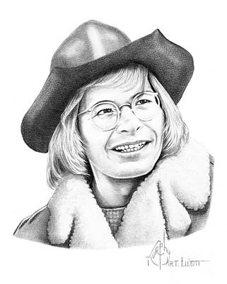 John Denver Drawing - John Denver by Murphy Elliott