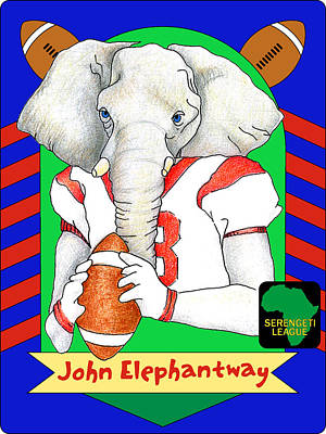 Digital Art - John Elephantway by Alison Stein