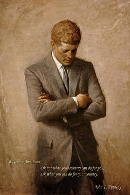 Photograph - John F Kennedy 2 by Andrew Fare