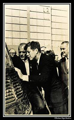 Photograph - John F Kennedy And Astronaut John H Glenn Jr by Audreen Gieger