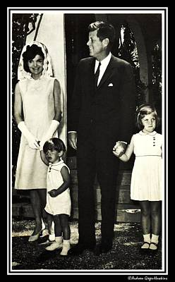 Photograph - John F Kennedy And Family At Easter by Audreen Gieger