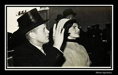 Photograph - John F Kennedy And Jacqueline After His Taking Oath by Audreen Gieger