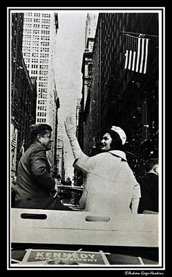 Photograph - John F Kennedy And Jacqueline Ticker Tape Parade by Audreen Gieger