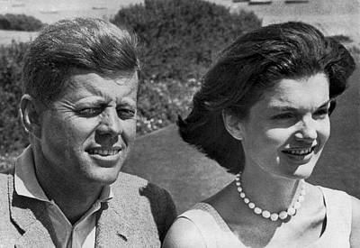 John F. Kennedy And Jacqueline Art Print by Underwood Archives