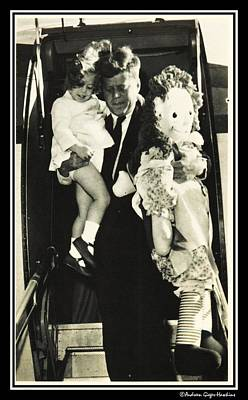 Photograph - John F Kennedy Carries Caroline And Toys by Audreen Gieger