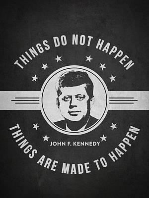 John F Kennedy - Dark Print by Aged Pixel