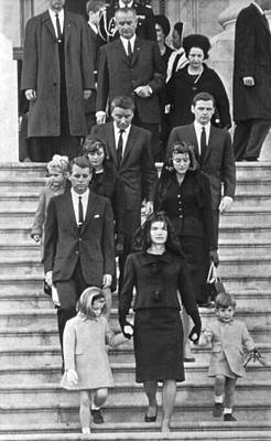 John F. Kennedy Funeral Art Print by Underwood Archives