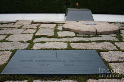 Photograph - John F Kennedy Grave Site by Andrew Romer