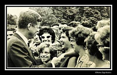 Photograph - John F Kennedy Greets Summer Job Students At White House by Audreen Gieger