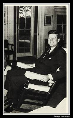 Photograph - John F Kennedy In Rocking Chair by Audreen Gieger