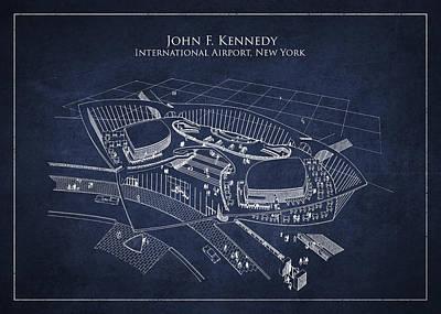 John F Kennedy International Airport Print by Aged Pixel