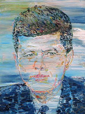 John F. Kennedy Painting - John F. Kennedy - Oil Portrait by Fabrizio Cassetta