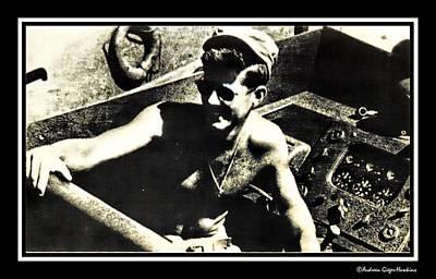 John F Kennedy On Pt 109 Art Print