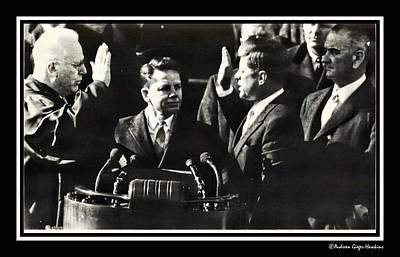John F Kennedy Takes Oath Of Office Art Print