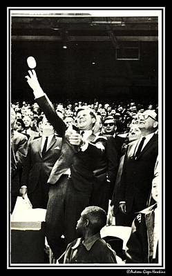 Photograph - John F Kennedy Throws First Pitch by Audreen Gieger