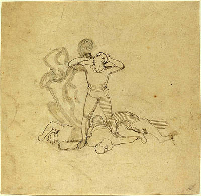 Wash Drawing - John Flaxman, British 1755-1826, Figure Standing by Litz Collection
