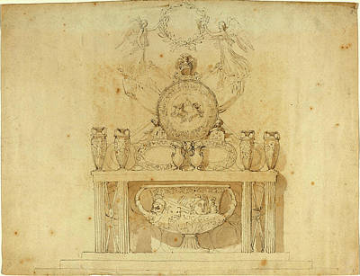 Buckingham Palace Drawing - John Flaxman, British 1755-1826, Study For Decorations by Litz Collection